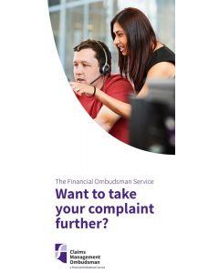 Complaints about claims management companies leaflets - pack of 25