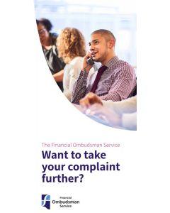 Complaints about financial services leaflets - pack of 25