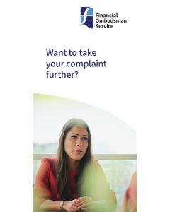 Complaints about financial services leaflets – box of 825